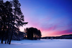 Winter sunrise landscape Royalty Free Stock Image
