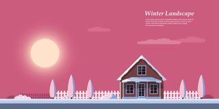 Winter sunrise landscape Stock Photo