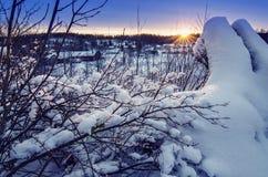 Winter sunrise Stock Image