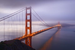 Winter sunrise near Golden Gate Bridge Stock Image