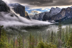 Winter Sunrise On Yosemite Valley Stock Image