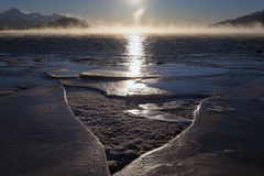 Winter Sunrise on Remote Alaska Beach Royalty Free Stock Photo