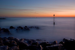 Winter sunrise, Sandbanks, Dorset, UK Royalty Free Stock Photography