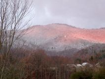Winter Sunrise. Took a picture of sunrise after a snow in Western NC Stock Photos