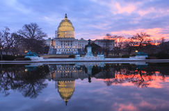 Winter Sunrise US Capitol Building Washington DC Stock Photos