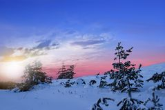 Winter sunset Royalty Free Stock Photos