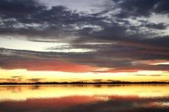Winter sunset stock image