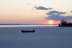 Winter sunset at the Baltic Sea Royalty Free Stock Photo