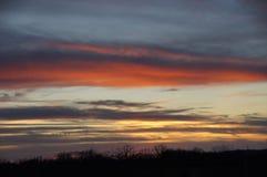 Winter Sunset. In Branson Missouri Stock Images