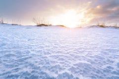 Winter sunset bright photo Stock Photo