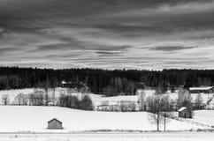 Winter sunset landscape Royalty Free Stock Photos