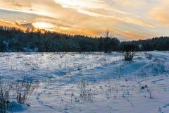 Winter sunset Royalty Free Stock Photo
