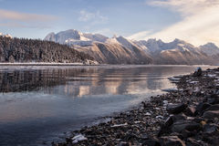 Winter before sunset Stock Photography