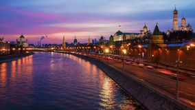 Winter sunset in Moscow, Russia Stock Images