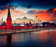 Winter sunset in Moscow, Russia Stock Photography