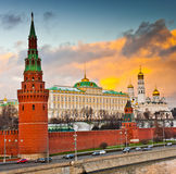 Winter sunset in Moscow, Russia Stock Photos
