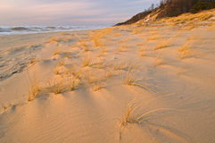 Winter Sunset Saugatuck Dunes Stock Photo