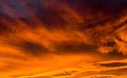 Stormy Winter Sunset Sky Stock Photos
