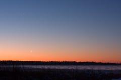 Winter sunset Venus Stock Photo