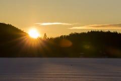 Winter Sunshine Stock Photos