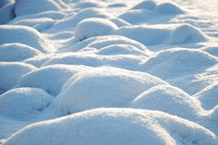 WINTER: Surface of snow mounds Stock Images