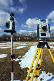 Winter surveying Royalty Free Stock Images