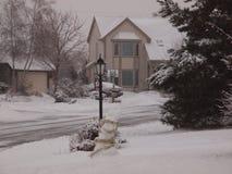 Winter in Sussex, WI lizenzfreies stockbild