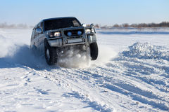 Winter SUV ride Stock Images