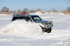 Winter SUV ride Stock Image