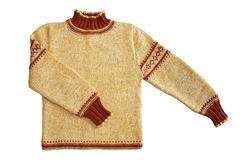 Winter sweater. On white background Stock Images