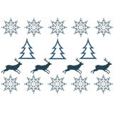 Winter sweater design - deer, snowflake  Stock Photo