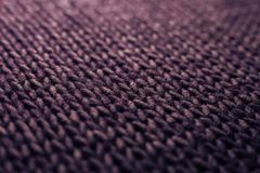 Purple knitting wool texture background Royalty Free Stock Images