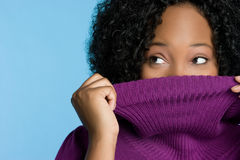 Winter Sweater Woman Stock Photos