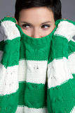 Winter Sweater Woman Royalty Free Stock Photo