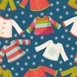 Winter Sweaters Seamless Pattern Royalty Free Stock Photos