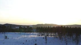 Winter in Sweden. Aerial drone shot of WInter in Sweden stock video
