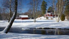 Winter Swedish landscape Stock Image