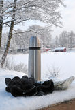 Winter Swedish time. Winter time in Sweden and necessary equipment Royalty Free Stock Photography