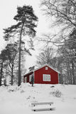 Winter Swedish view. Colors abstraction in Swedish winter view Stock Photography
