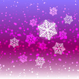 Winter sweet snow and snowflake abstract background Stock Image