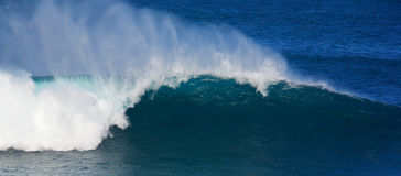 Winter swells. Large wave from winter swells at Hookipa, Maui. Hookipa is a beach on the north shore of Maui, Hawaii, USA Stock Images