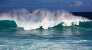 Winter swells. Large wave from winter swells at Hookipa, Maui. Hookipa is a beach on the north shore of Maui, Hawaii, USA Stock Photo