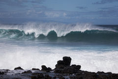 Winter swells. Large wave from winter swells at Hookipa, Maui. Hookipa is a beach on the north shore of Maui, Hawaii, USA Royalty Free Stock Photo