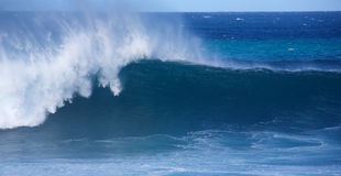 Winter swells. Large wave from winter swells at Hookipa, Maui. Hookipa is a beach on the north shore of Maui, Hawaii, USA Stock Photography