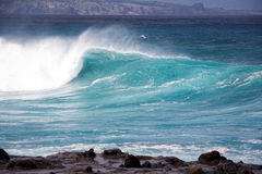 Winter swells. Large wave from winter swells at Hookipa, Maui. Hookipa is a beach on the north shore of Maui, Hawaii, USA Stock Photos