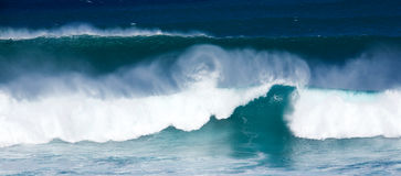 Winter swells. Large waves from winter swells at Hookipa, Maui. Hookipa is a beach on the north shore of Maui, Hawaii, USA Stock Photography