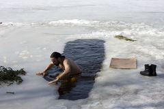 Winter-swimmer #2 Royalty Free Stock Image