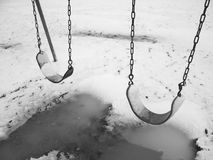 Winter swings Royalty Free Stock Photo