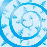 Winter swirl Stock Image