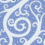 Winter Swirl Seamless Pattern Stock Photography